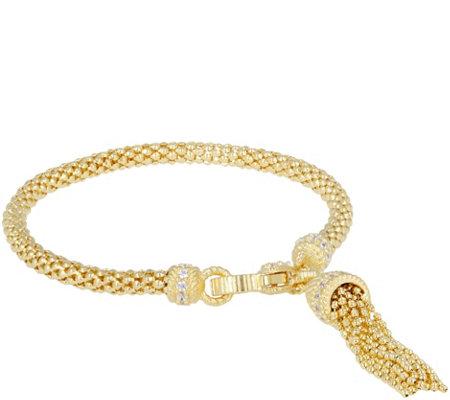 Judith Ripka Verona Tassel Bracelet Sterling 14k Clad 13 5g