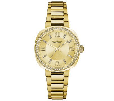 Caravelle New York Women's Goldtone Watch withChampagne Dial