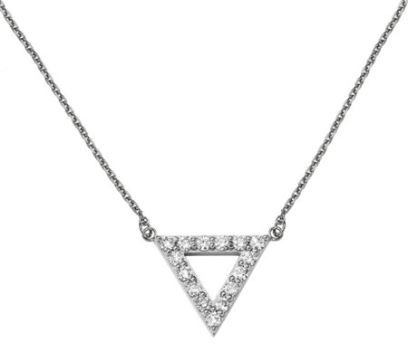 Dainty Designs 14K 7/8 cttw Diamond Large Triangle Necklace