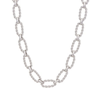 Judith ripka necklaces jewelry qvc judith ripka verona 18 sterling oval texture link necklace 437g j349211 aloadofball Gallery