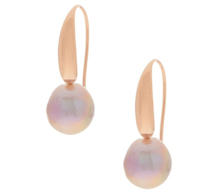 Honora Ming Cultured Pearl Drop Earrings, Sterling Silver