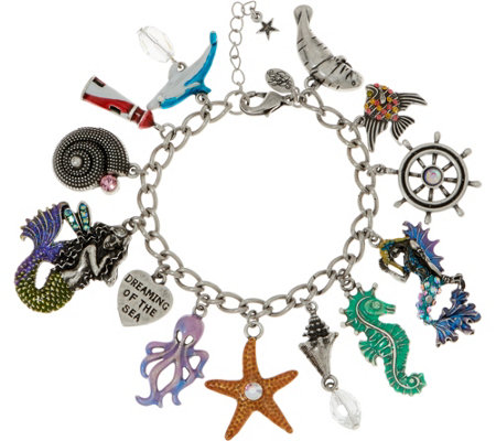 Kirks Folly Dreaming Of The Sea Misty Mermaid Charm Bracelet