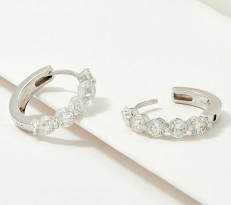Fire Light Lab Grown Diamond 14k Gold Hoop Earrings 1 50 Cttw Qvc