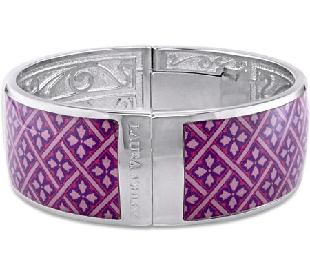 Laura Ashley Purple & Pink Pattern Enamel Bangle