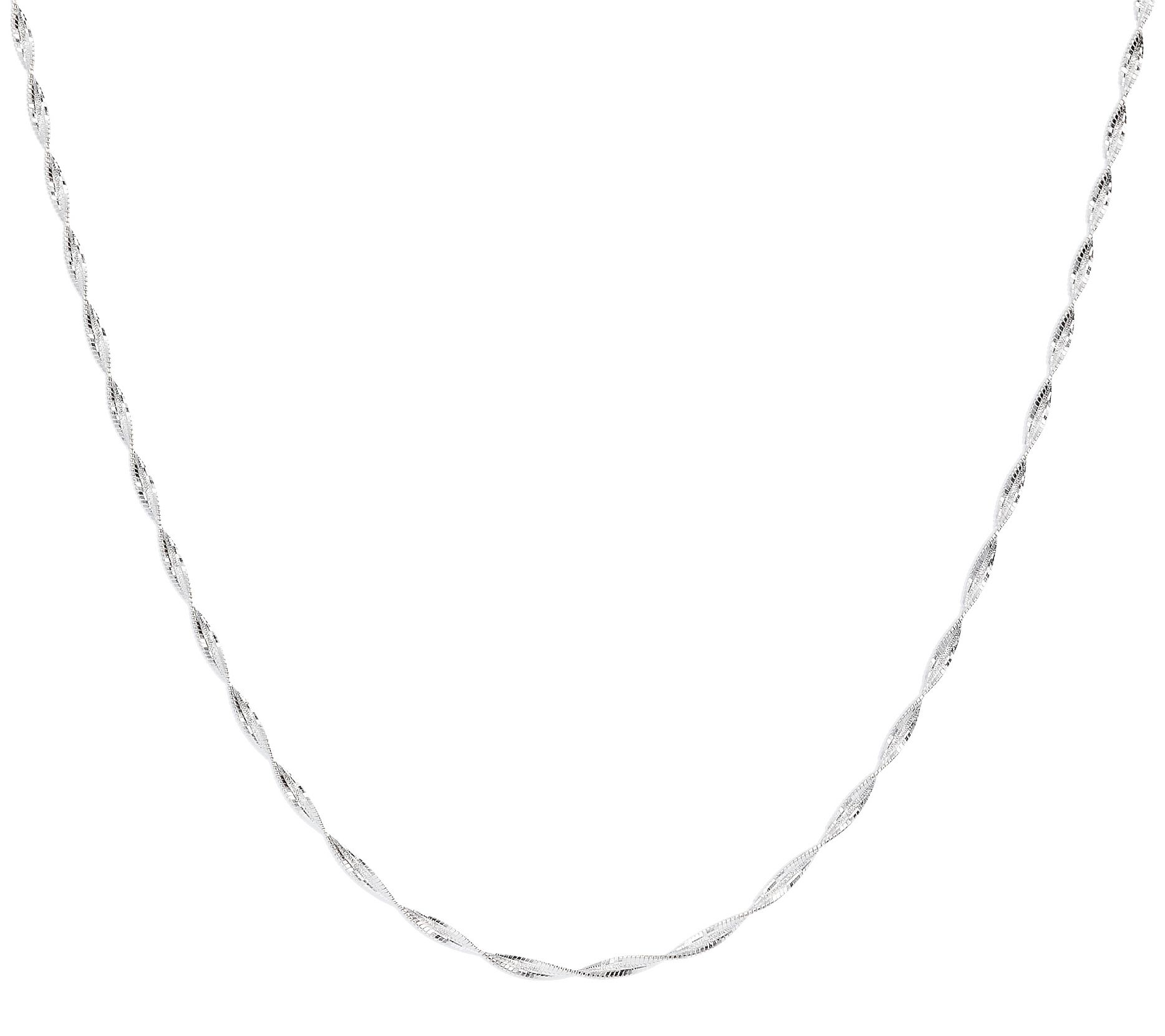"""TJC Tocalle Chain Necklace Women Tricolour Gold Plated Sterling Silver Size 16/"""""""