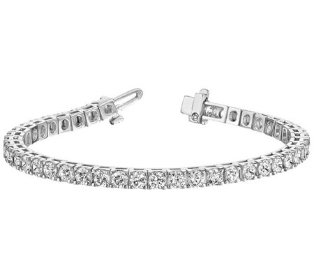 "Moissanite 6-3/4"" 3.10 cttw Tennis Bracelet, 14K Gold"
