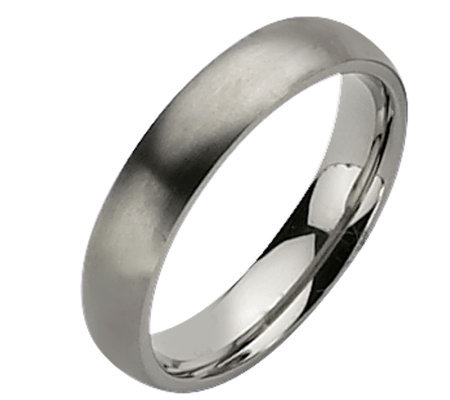 Titanium 5mm Brushed Ring - Unisex