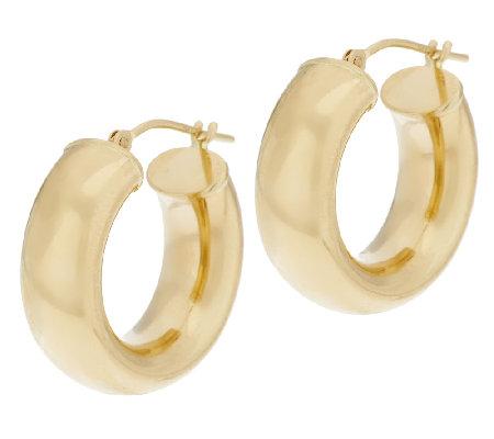Eternagold 3 4 Bold Polished Hoop Earrings 14k Gold