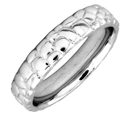 Simply Stacks Sterling Silver Cobblestone 4.25mm Ring