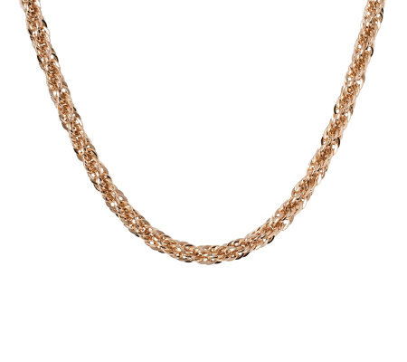 "Bronzo Italia 18"" Polished Bold Singapore Necklace"