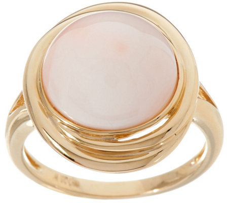 Angel Skin Coral Ring 14K Gold