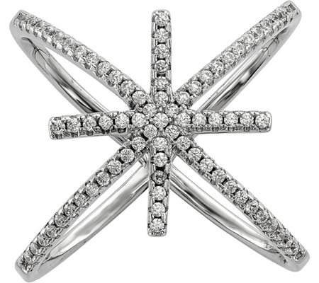 Sterling Crystal Star Ring