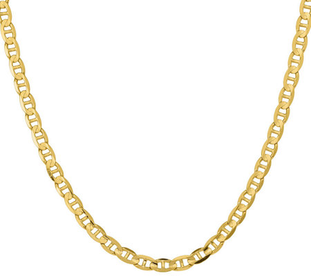 "14K Yellow Gold 22"" Marine Link Necklace, 39.9g"