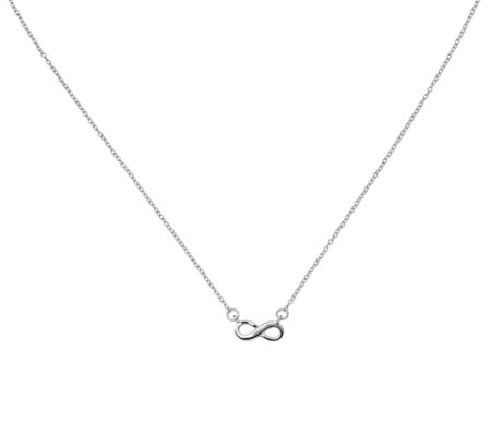 Sterling Infinity Necklace by Silver Style
