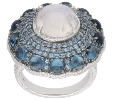 Judith Ripka Sterling Multi-Gemstone Ring