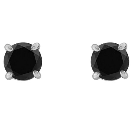 Affinity 14K 1/2 cttw Round Black Diamond StudEarrings