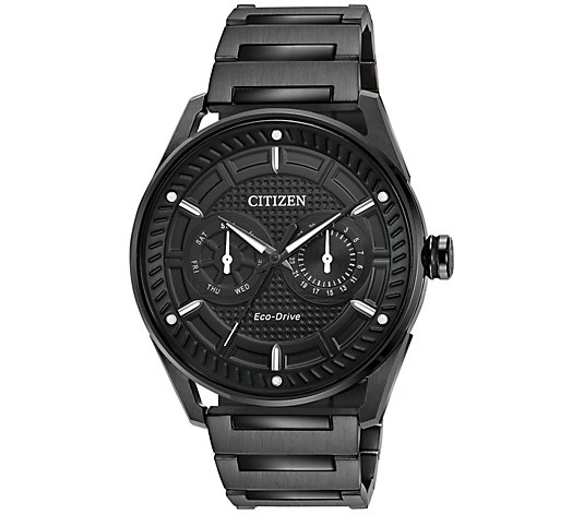 Citizen Eco-Drive Men's Black Stainless SteelBracelet Watch