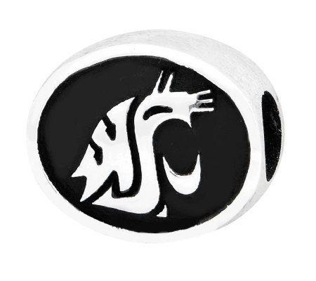Sterling Silver Washington State University Bead