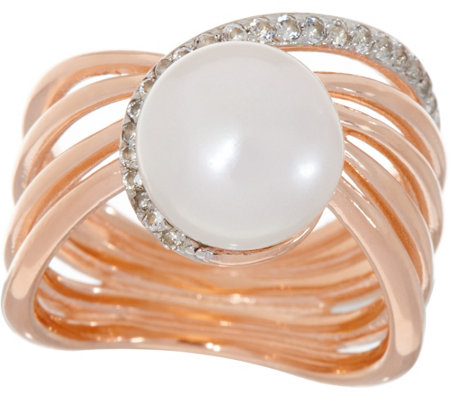 Honora Cultured Pearl & Gemstone Sterling Silver Ring