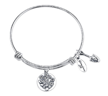 Sterling Blooming Love Charm Bangle by Extraordinary Life