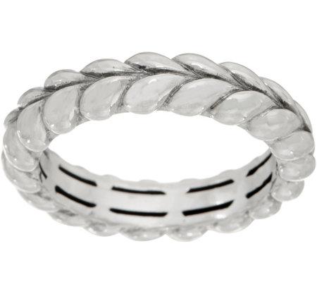 3e97fcda0d56e Tiffany Kay Studio Sterling Silver Herringbone Stack Ring — QVC.com
