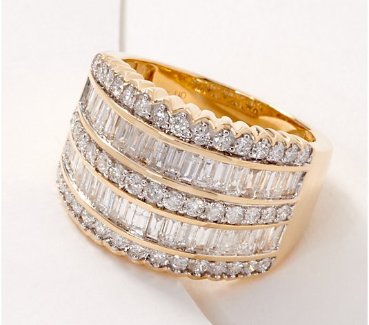 Affinity 14K Gold Diamond Band Ring, 2.00cttw