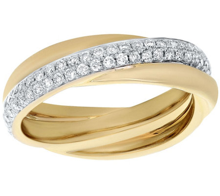 Crossover Diamond Ring, 14K, 1/2 cttw, by Affinity