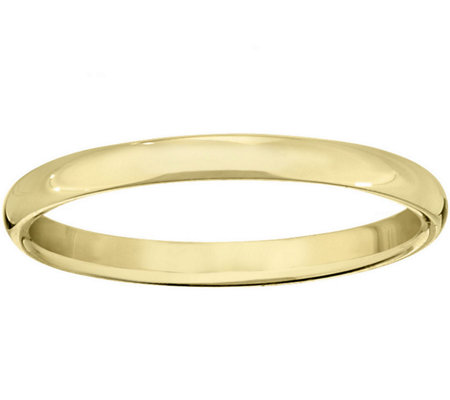 Women's 14K Yellow Gold 2.5mm Half Round Wedding Band