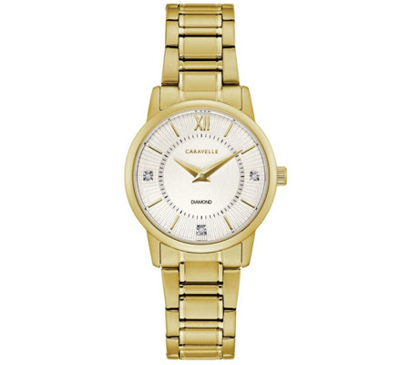 Caravelle by Bulova Women's Goldtone Diamond Watch