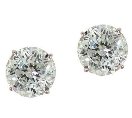Diamonique 2 50 Ct Tw 100 Facet Stud Earrings 14k Gold