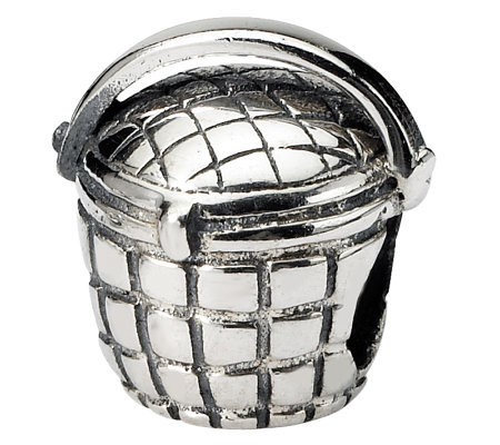 Prerogatives Sterling Silver Basket Bead