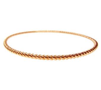 Judith Ripka 14k Rose Gold Clad Textured Roundbangle J307514