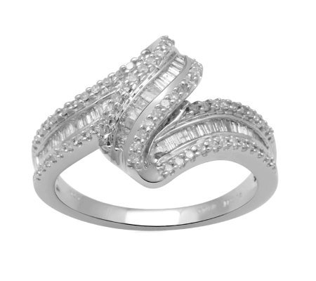 Diamond Wave Ring, Sterling, 1/2 cttw, by Affinity