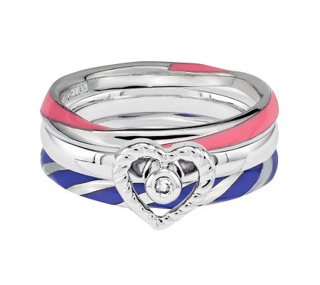 Simply Stacks Sterling Sweetheart Ring Set