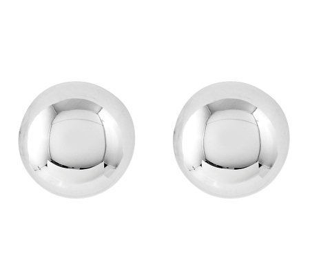 Sterling 8mm Polished Ball Stud Earrings
