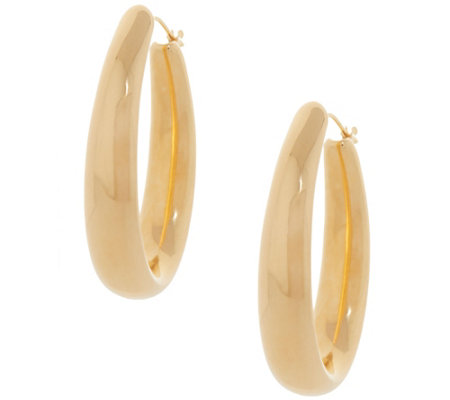 Oro Nuovo Bold Polished Oval Hoop Earrings, 14K Gold