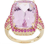Kunzite and Pink Sapphire Statement Ring, 15.75 cttw, 14K Gold - J357214