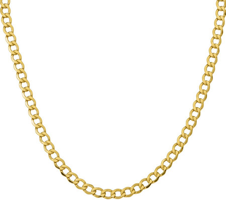 "14K 20"" Curb Link Necklace, 12.9g"