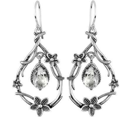 Or Paz Sterling 2.70 cttw Crystal Quartz Earrin gs
