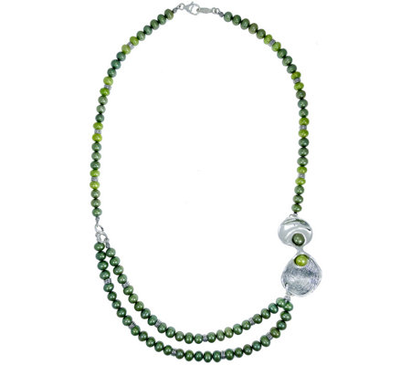 Hagit Sterling Cultured Freshwater Pearl Necklace