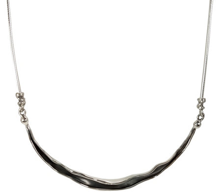 Hagit Sterling Silver Double Sided Necklace