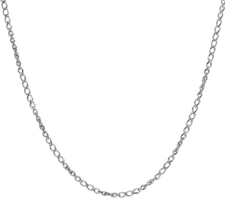 "Carolyn Pollack Sterling Silver 17""L Wheat Chain Necklace"