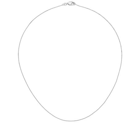 "14K White Gold 18"" Diamond-Cut Cable Link Chain, 1.3g"