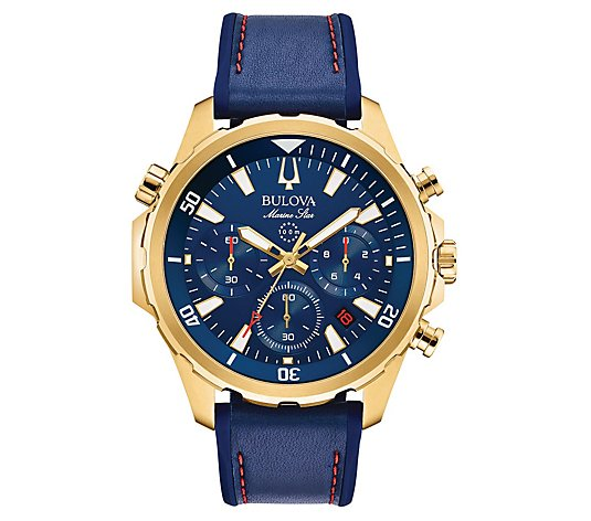 Bulova Men's Marine Star Chronograph Goldtone Stainless Watch