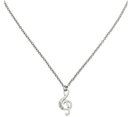 Steel by Design Treble Clef Pendant with Chain