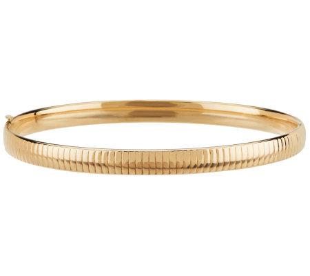 Eternagold 7 1 2 Omega Pattern Bangle Bracelet 14k Gold
