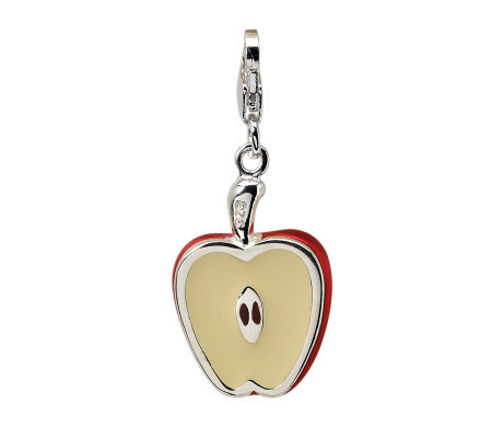 Amore La Vita Sterling Dimensional Apple HalfCharm