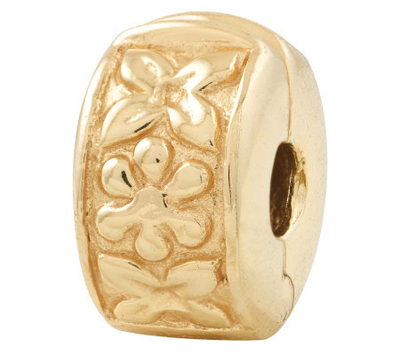 Prerogatives Gold-Plated Sterling Hinged FloralClip Bead