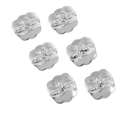UltraFine Silver Set of 3 Oversized Earring Clutches