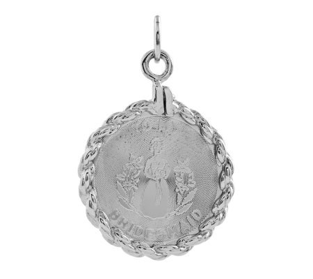 Sterling Bridesmaid Circular Pendant